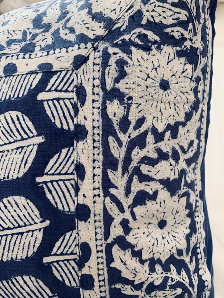 Parure feuilles bleues 3